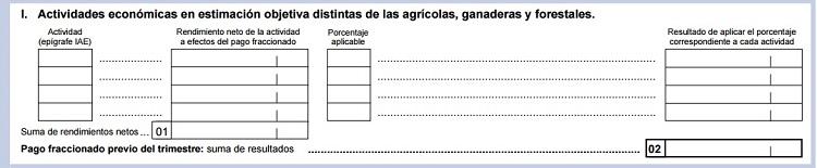 Actividades distintas de las agrícolas en el modelo 131 de Hacienda