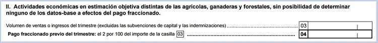 Actividades distintas de las agrícolas sin base en el modelo 131 de Hacienda