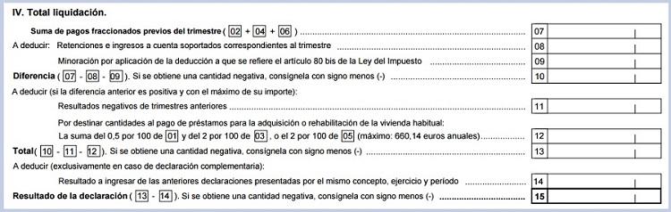 Total de declaración en el modelo 131 de Hacienda